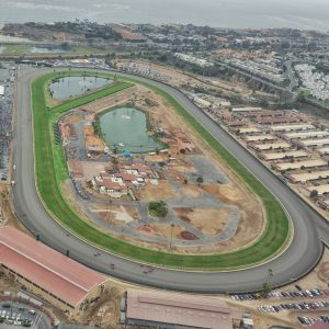 Del Mar RaceTrack from the Chopper