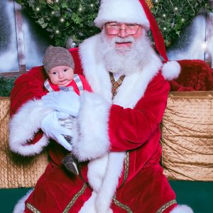 Finn Meets Santa.  Gives Obligatory Smile for the Camera